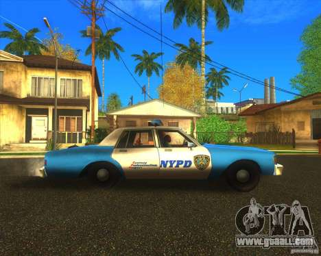 Chevrolet Caprice Classic 1986 NYPD for GTA San Andreas left view