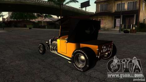 Ford T 1927 Hot Rod for GTA San Andreas back left view