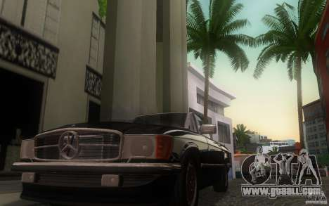 Mercedes-Benz 350 SL Roadster for GTA San Andreas inner view