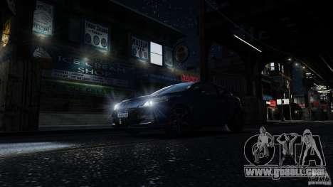 Renault Megane RS 250 for GTA 4 interior