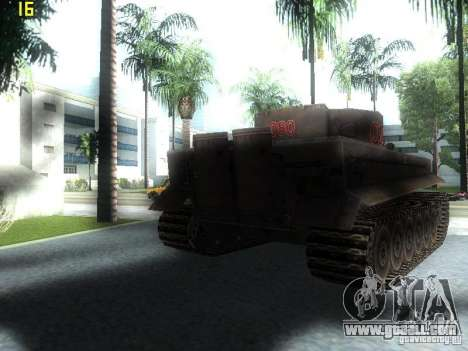 Tiger for GTA San Andreas back left view