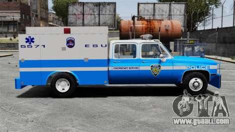 GMC C3500 NYPD ESU for GTA 4 left view