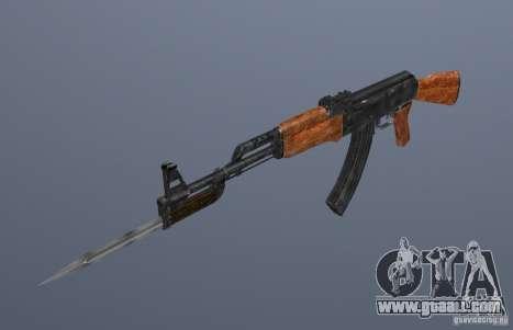 Ak 47 with Bayonet for GTA San Andreas