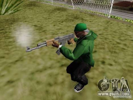 AK-47 of Saints Row 2 for GTA San Andreas forth screenshot