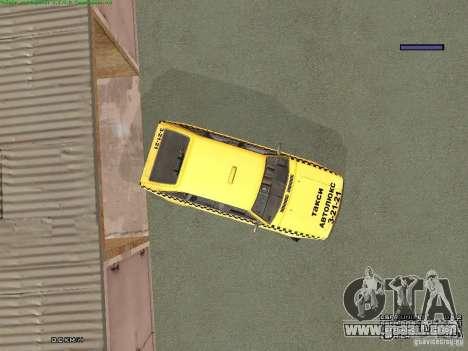 AZLK Moskvich 2141 Taxi v2 for GTA San Andreas wheels
