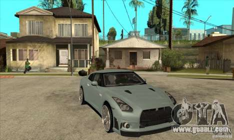 Nissan GT-R R35 for GTA San Andreas back view