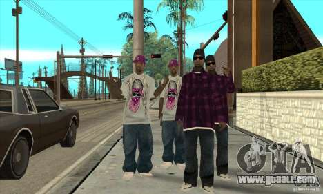Replace all skins East Side Ballas for GTA San Andreas second screenshot