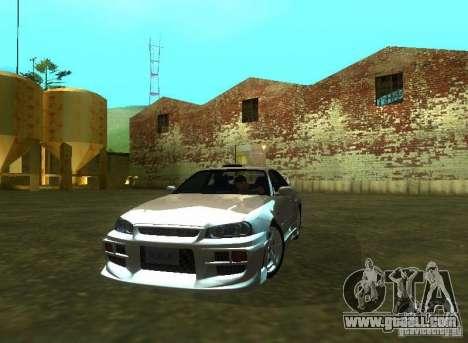 Nissan Skyline GTR-34 for GTA San Andreas right view