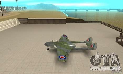 De-Havilland-Vampire ver 2.0 for GTA San Andreas left view