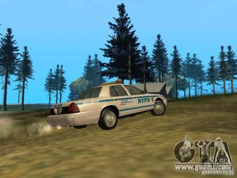 Ford Crown Victoria NYPD Police for GTA San Andreas back view