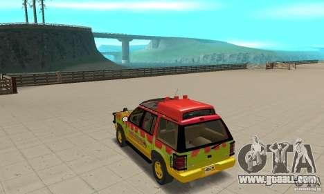 Ford Explorer (Jurassic Park) for GTA San Andreas back left view