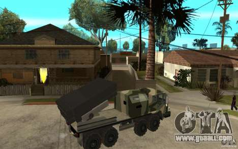 Missile Launcher Truck for GTA San Andreas right view