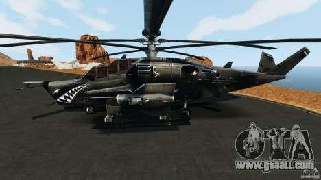 KA-50 Black Shark Modified for GTA 4 left view