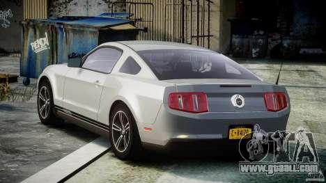 Ford Mustang V6 2010 Premium v1.0 for GTA 4 back left view