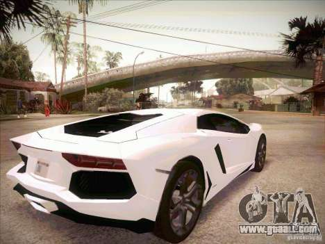 Lamborghini Aventador LP700-4 for GTA San Andreas back left view