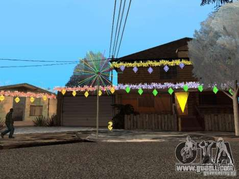 New year's Eve at the Grove Street for GTA San Andreas second screenshot
