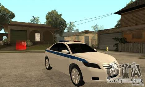 Toyota Camry 2010 SE Police RUS for GTA San Andreas back view