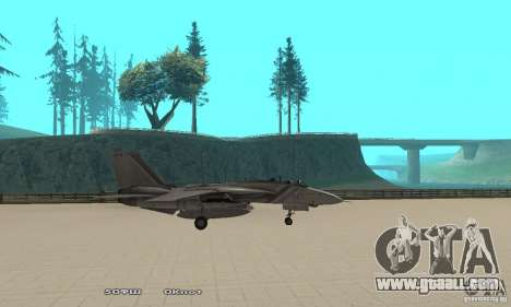 F14W Super Weirdest Tomcat Skin 1 for GTA San Andreas left view