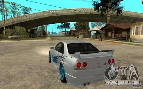 Nissan Skyline R33 Drift for GTA San Andreas back left view