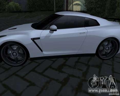 Nissan GTR-35 Spec-V for GTA San Andreas right view