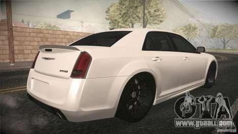 Chrysler 300 SRT8 2012 for GTA San Andreas inner view