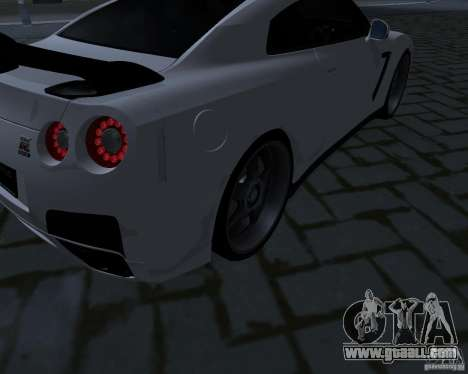 Nissan GTR-35 Spec-V for GTA San Andreas side view