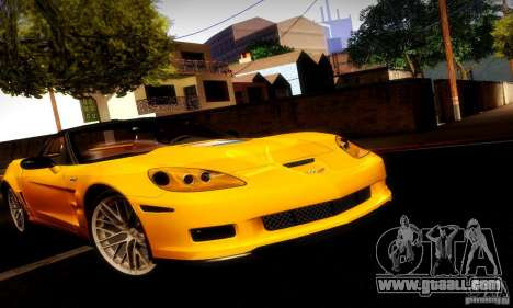 Chevrolet Corvette ZR-1 for GTA San Andreas side view