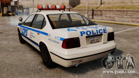New Police Patrol for GTA 4 back left view