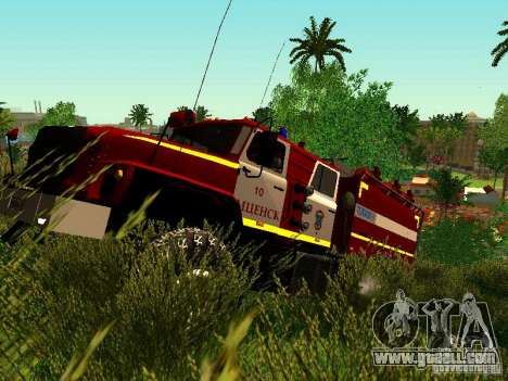 Ural 5557-40 fire for GTA San Andreas left view