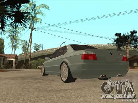 BMW E38 M7 for GTA San Andreas back left view