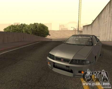 Nissan Skyline GT-R R-33 for GTA San Andreas bottom view