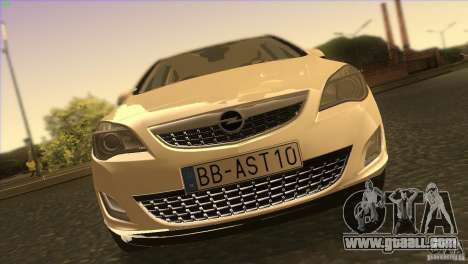 Opel Astra 2010 for GTA San Andreas upper view