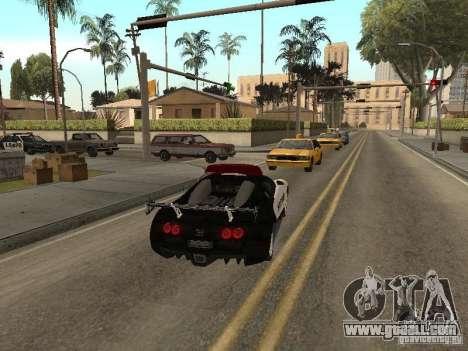 Bugatti Veyron Police for GTA San Andreas right view
