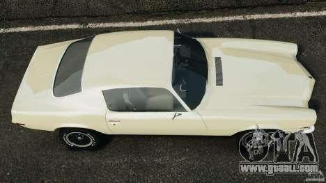 Chevrolet Camaro 1970 v1.0 for GTA 4 right view