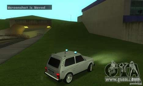VAZ 21213 NIVA FBI for GTA San Andreas right view