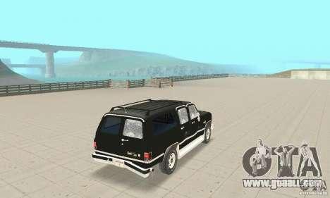 Chevrolet Suburban FBI 1986 for GTA San Andreas upper view
