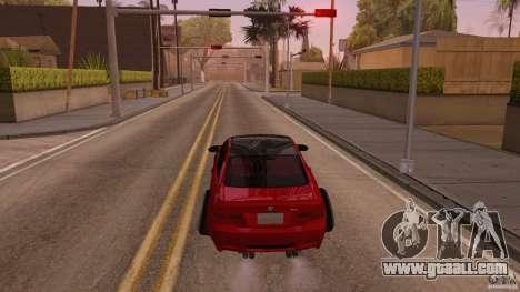 BMW M3 E92 Slammed for GTA San Andreas back left view