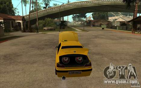 Peugeot 406 Taxi for GTA San Andreas inner view