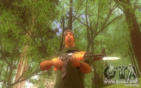 Kalashnikov HD for GTA San Andreas forth screenshot