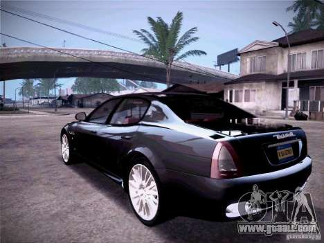 Maserati Quattroporte 2010 for GTA San Andreas back left view