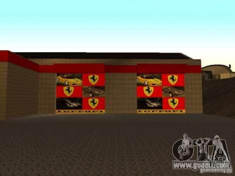 The Ferrari garage in Dorothy for GTA San Andreas second screenshot