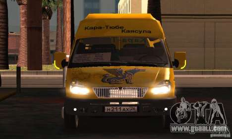 Gazelle 2705 Minibus for GTA San Andreas inner view