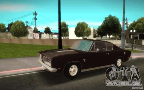 Plymouth Barracuda Formula S for GTA San Andreas back left view