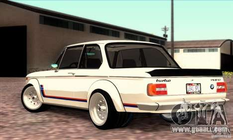 BMW 2002 Turbo for GTA San Andreas left view