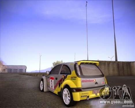 Opel Corsa Super 1600 for GTA San Andreas back view
