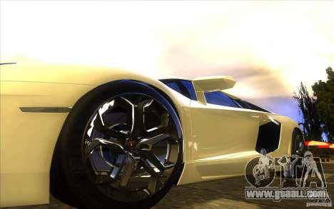 Lamborghini Aventador LP700-4 for GTA San Andreas engine