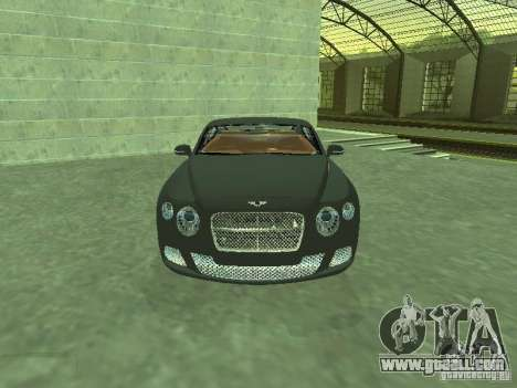 Bentley Continental GT 2010 V1.0 for GTA San Andreas back view