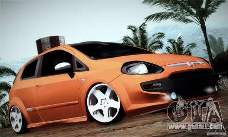 Fiat Punto Evo 2010 Edit for GTA San Andreas back left view
