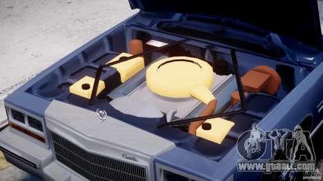 Cadillac Fleetwood Brougham 1985 for GTA 4 engine