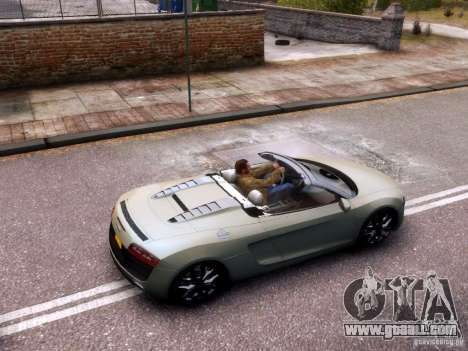 Audi R8 Spyder 5.2 FSI quattro V4 EPM for GTA 4 inner view